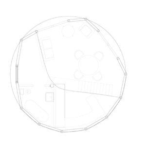 Plan d'aménagement d'un Dôme de Ø 7.5m - 40m²